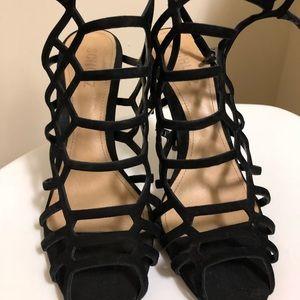 Schutz strapped blank heels